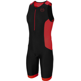 Zone3 Aquaflo Plus Trisuit Heren, black/grey/red